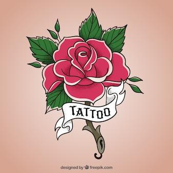 Projeto da flor rose
