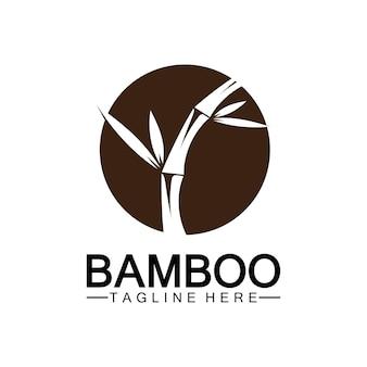 Projeto da ilustração do ícone do vetor bamboo logo template