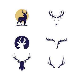 Projeto da ilustração do ícone do vetor deer animal template