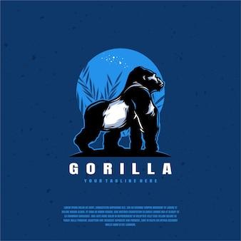 Projeto da ilustração do logotipo do gorila