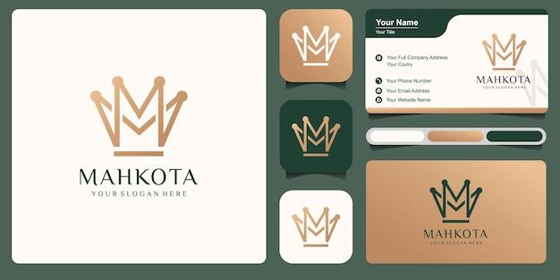 Projeto da ilustração do logotipo do vetor da coroa