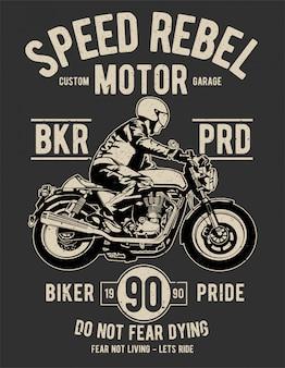 Projeto da ilustração do motor rebelde da velocidade