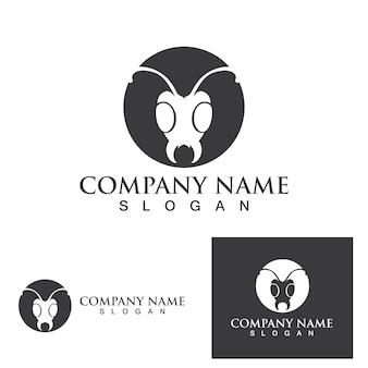 Projeto da ilustração do vetor do modelo do logotipo da formiga