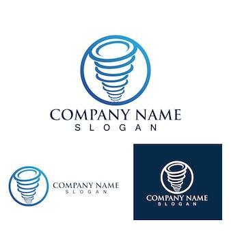 Projeto da ilustração do vetor do símbolo do logotipo tornado