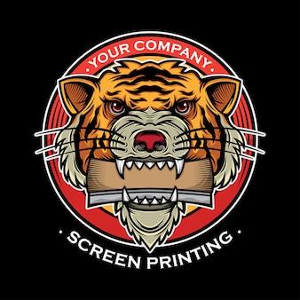Projeto da impresso da tela do logotipo