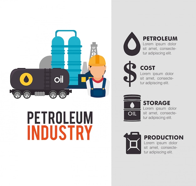 Projeto da indústria de petróleo