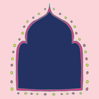 Projeto da moldura do vetor diwali rangoli indiano