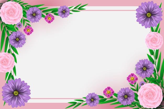 Projeto da natureza de flores coloridas realistas de fundo