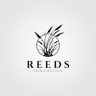 Projeto da planta aquática do logotipo da reeds