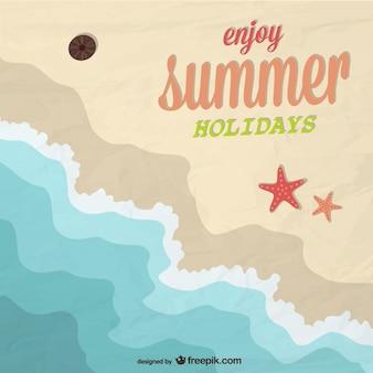 Projeto da praia férias de verão vetor