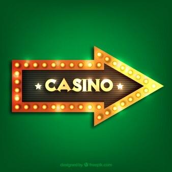 Projeto da seta do sinal do casino