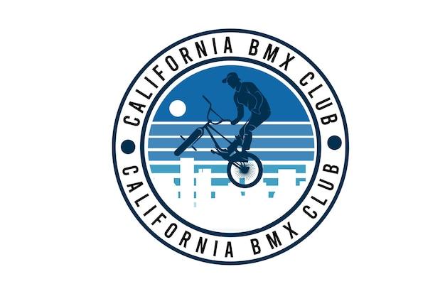 Projeto da silhueta do clube de motocross de bicicleta da califórnia