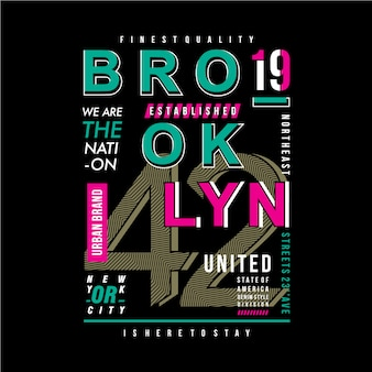 Projeto da tipografia de brooklyn