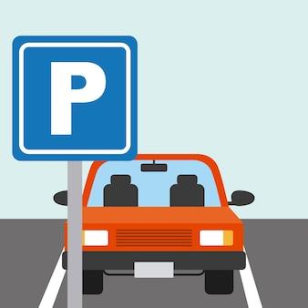 Projeto da zona de estacionamento