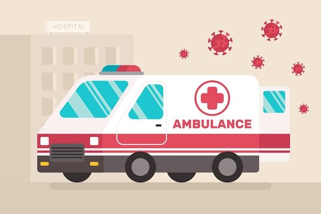 Projeto de ambulância de emergência