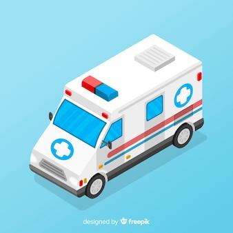 Projeto de ambulância isométrica