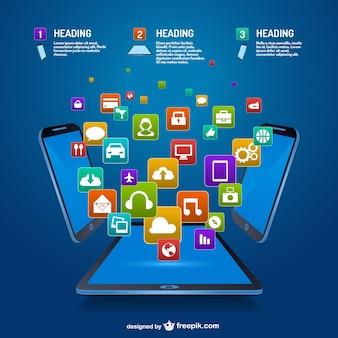 Projeto de aplicativos móveis vetor