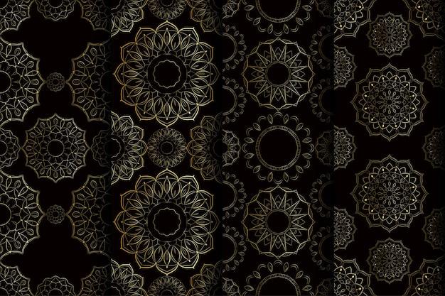 Projeto de arte de mandala de padrão sem emenda