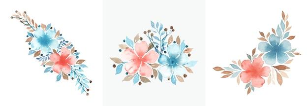 Projeto de arte floral em aquarela feito à mão