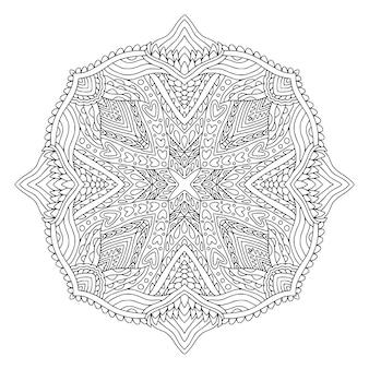 Projeto de arte mandala. padrão ornamental boêmio