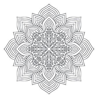 Projeto de arte mandala. página para colorir livro