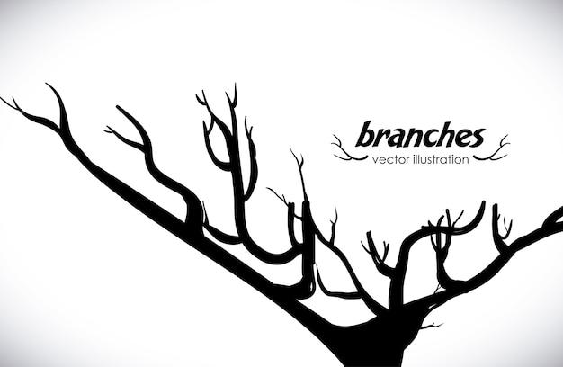 Projeto de árvore sobre ilustração vetorial de fundo cinza