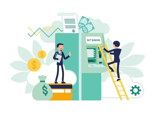 Projeto de atividades de negócios bancários e instituições financeiras