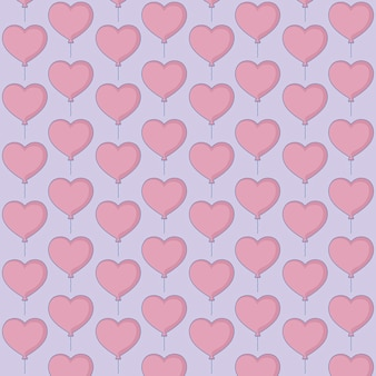 Projeto de balões de coração