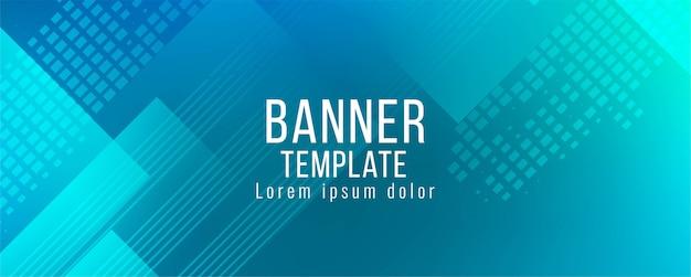 Projeto de bandeira azul moderno decorativo abstrato