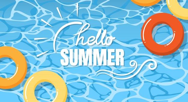 Projeto de banner de férias de verão.