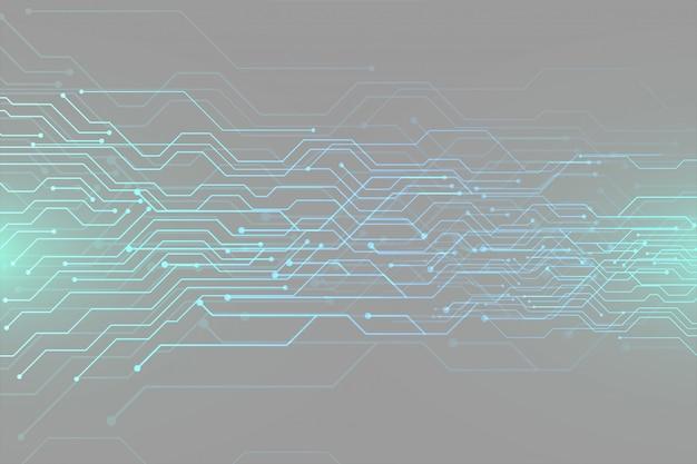 Projeto de banner de tecnologia de diagrama de circuito futurista digital