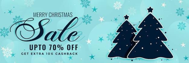 Projeto de banner de venda de inverno feliz natal