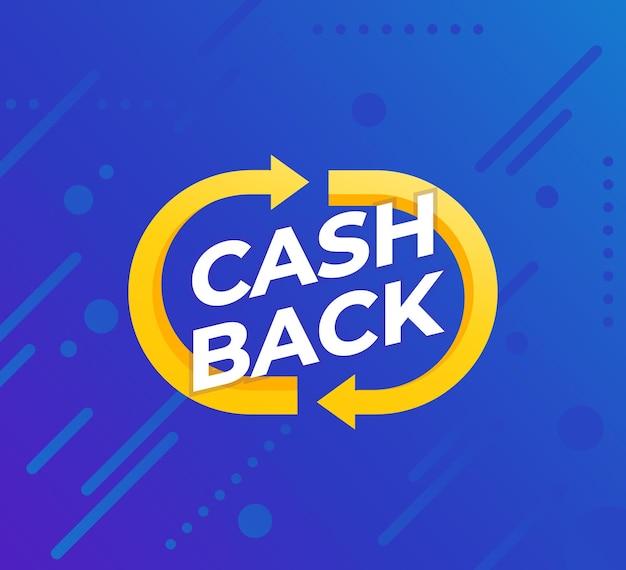 Projeto de banner de vetor de cashback
