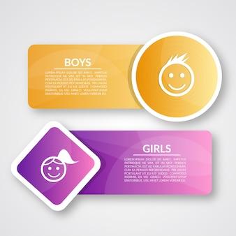 Projeto de Banners de Escola para Crianças