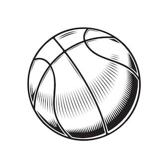 Projeto de basquete em fundo branco. ícones ou logotipos de arte de linha de basquete. ilustração vetorial.