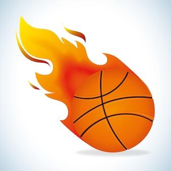 Projeto de basquete, ilustração vetorial.