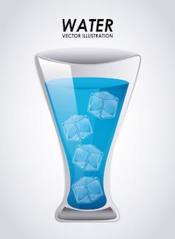 Projeto de bebida sobre ilustração vetorial de fundo cinza