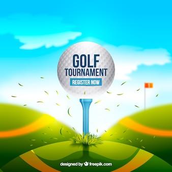 Projeto de bola de golfe brilhante