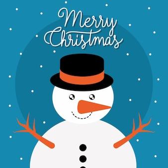 Projeto de boneco de neve de feliz natal.
