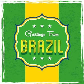 Projeto de brasil sobre ilustração em vetor bandeira fundo