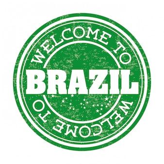 Projeto de brasil sobre ilustração vetorial de fundo branco
