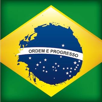 Projeto de brasil sobre ilustração vetorial de fundo verde