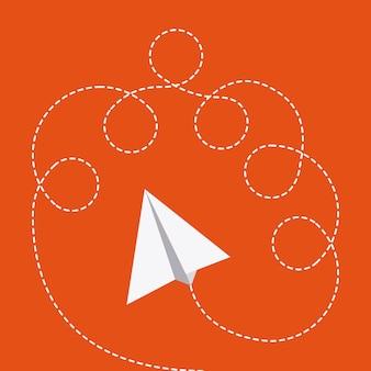 Projeto de brinquedos sobre ilustração vetorial de fundo laranja