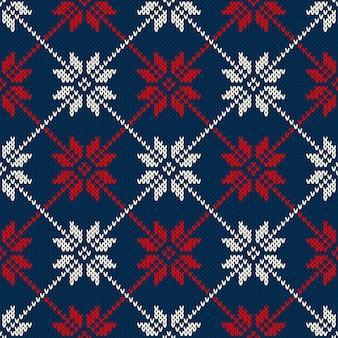 Projeto de camisola de férias de inverno. padrão de malha sem costura
