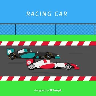 Projeto de carro de corrida de fórmula 1