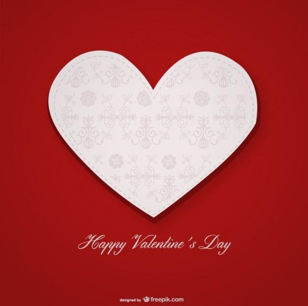 Projeto de cartão do dia dos namorados coração decorativo com elementos ornamentais