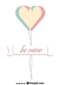 Projeto de cartão do dia dos namorados minimalista