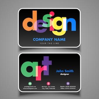 Projeto de cartão moderno para o designer ou artista