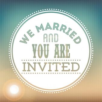 Projeto de casamento sobre ilustração em vetor fundo padrão