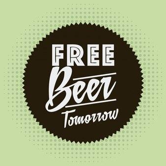 Projeto de cerveja sobre ilustração vetorial de fundo verde